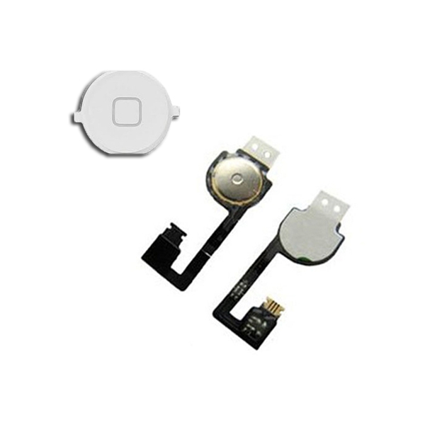 Nappe + Bouton Home blanc pour IPHONE 4