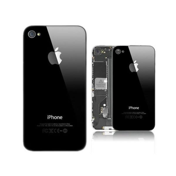 Vitre arrière pour IPHONE 4 noir