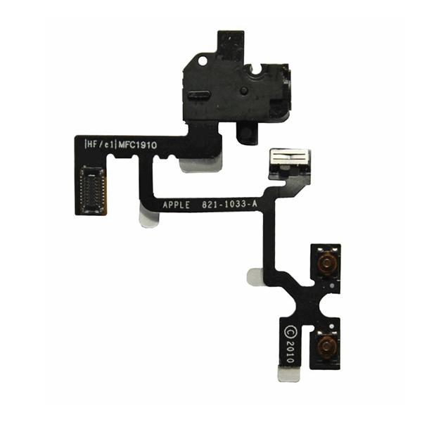 Nappe prise jack - vibreur - volume pour IPHONE 4 noir
