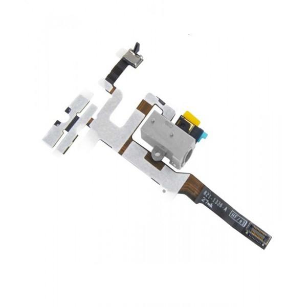 Nappe prise jack - vibreur - volume pour IPHONE 4S blanc