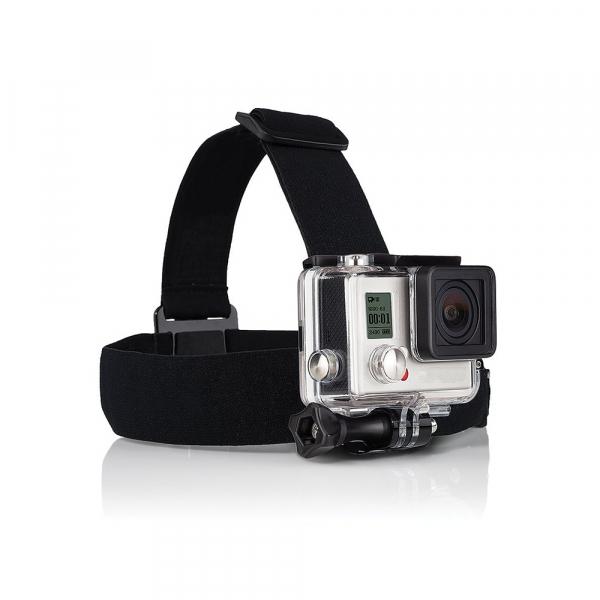 Bandeau de tête - Compatible GoPro & SJ4000 - Noir