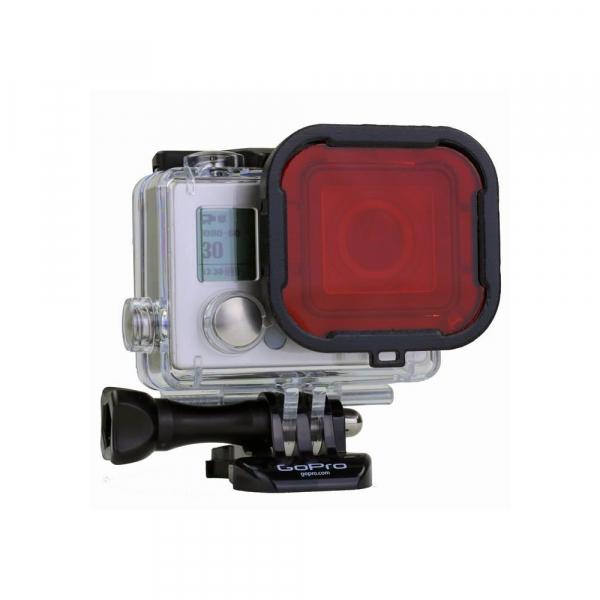 Filtre renforcé pour GoPro Hero 3+ / Hero 4 - Rouge