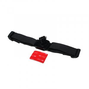 Sangle de casque 360° - Compatible GoPro & SJ4000 - Noir