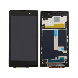Vitre tactile + LCD + chassis assemblés - SONY XPERIA Z1 - C6903 - Noir