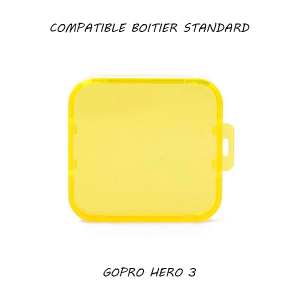 Filtre pour caisson standard GoPro Hero 3 - Jaune