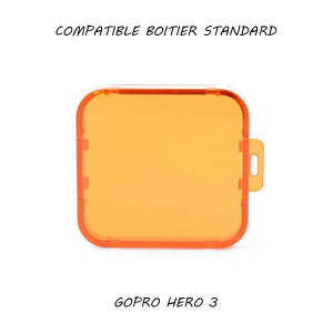 Filtre pour caisson standard GoPro Hero 3 - Orange