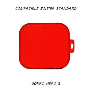 Filtre pour caisson standard GoPro Hero 3 - Rouge