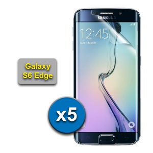 5 films de protection pour SAMSUNG GALAXY S6 EDGE