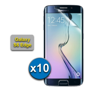 10 films de protection pour SAMSUNG GALAXY S6 EDGE