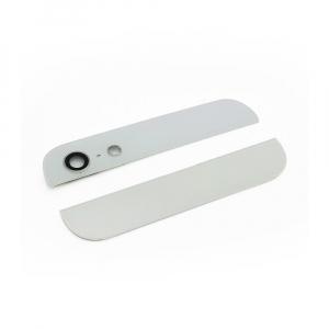 Set de 2 pièces de vitre arrière pour IPHONE 5 - Blanc