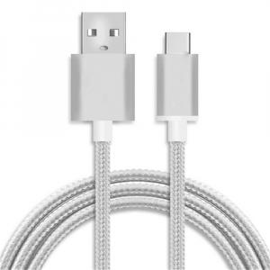 Câble USB / Type C renforcé - 1,80m - Blanc
