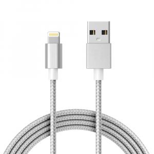 Câble USB / Lightning renforcé - 1,80m - Blanc