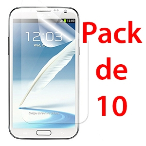 Film de protection pour SAMSUNG GALAXY NOTE 2 x10