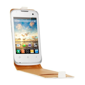 Etui Flip Cover SWISS CHARGER pour WIKO CINK + blanc