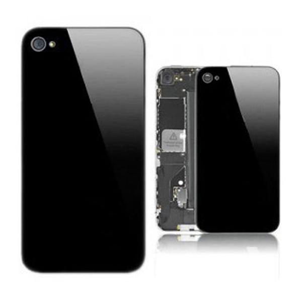 Vitre arrière unie pour IPHONE 4 noir
