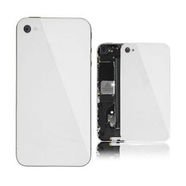 Vitre arrière unie pour IPHONE 4 blanc