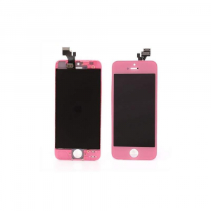 Vitre tactile + LCD pour IPHONE 5 - Rose