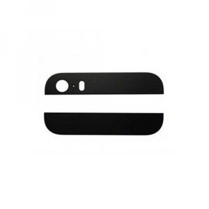 Set de 2 pièces de vitre arrière pour IPHONE 5 - Noir