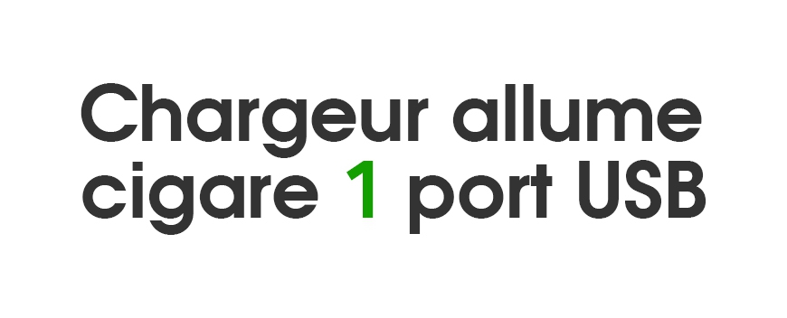 Chargeurs allume-cigare 1 port USB